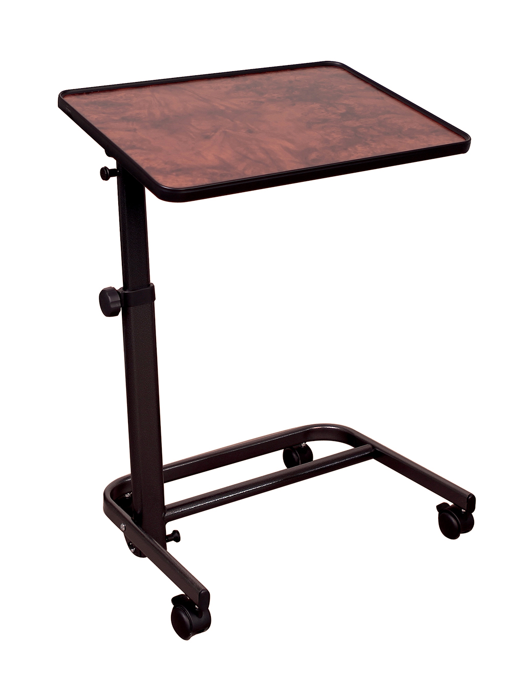 Table de lit DIFFUSION plateau ronce de noyer 60 cm