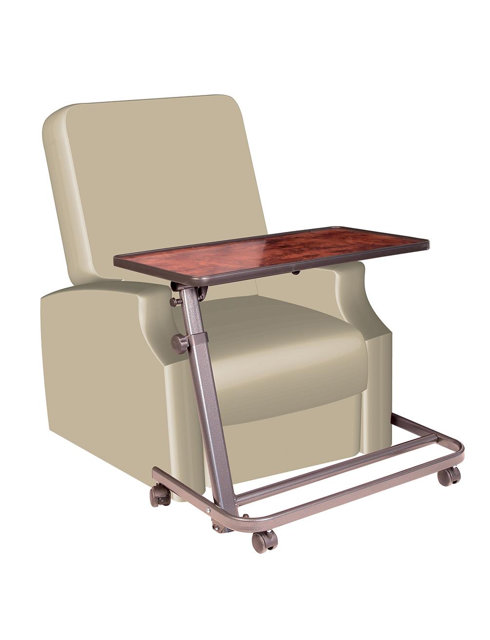 Table de lit ou fauteuil releveur plateau 80 cm